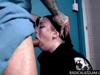 Horny refugee worships a huge cock