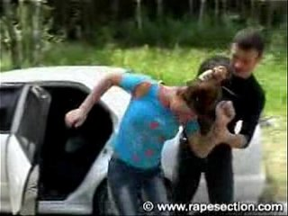 Brunette Fucked Next to Car Part 1