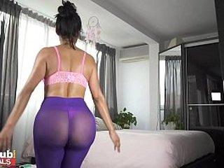 FAKEhub Sexy Lockdown Workout with Big Tits Canela Skin