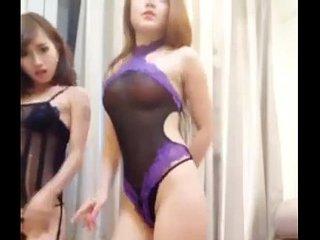 Chinese camgirls dance