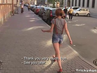 Tricky Agent - A skinny redhead Christi Cats is eager to be fucked!