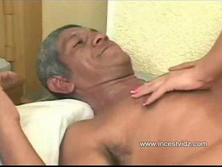 Brazilian Grandpa and His friend with whore granddaughter