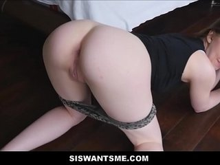 Cute Teen Stepsister With A Big Ass Chloe Scott Wants Her Stepbrothers Big Cock POV