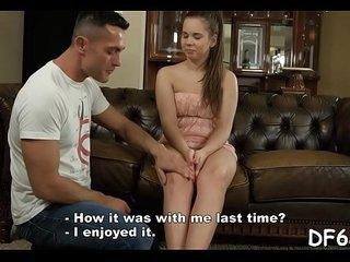 Slutty stag shows his virgin gf pleasures of adult life