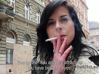 Beautiful Czech amateur fucks in hotel room pov