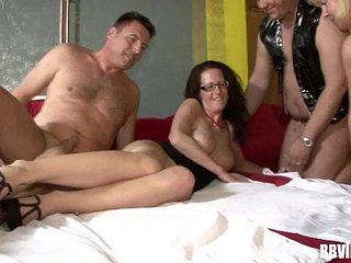 German swingers fucking in foursome